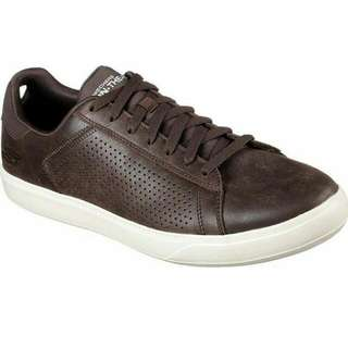 Sepatu Skechers Go Vulc Leather Chocolate Original Bnib