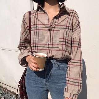 [PO] Vintage Plaid Shirt