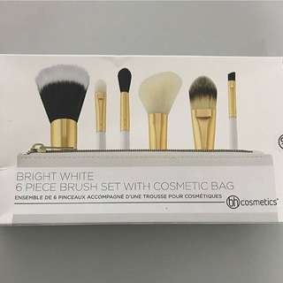 Bh cosmetics 6 pc brush set with cosmetic bab