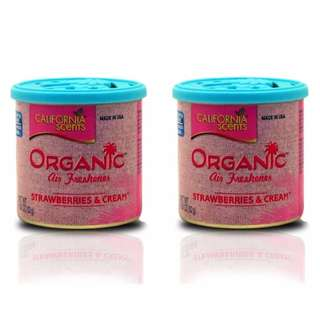 California Scents Organic Air Freshener Strawberries & Cream(Bundle of 2)