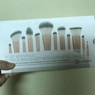 Bh cosmetic 12 pc rose romance brush set
