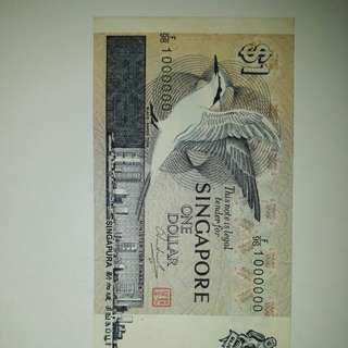 F/98  1000000 $1 note new pc