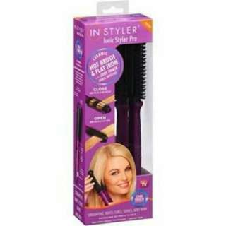 Styleri ionic hot brush ceramic flat iron
