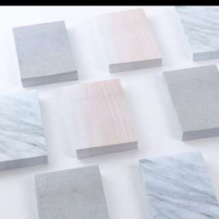 Marble mini sticky memo notepad