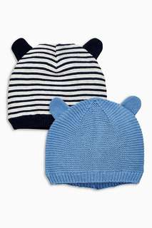 Blue Hats Two Pack (0mths-2yrs)
