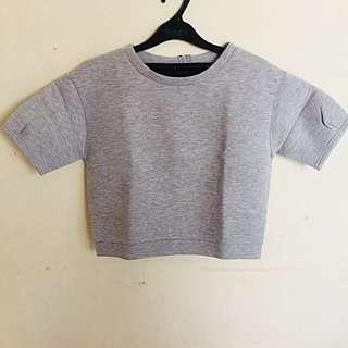 Grey Croptee