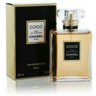 Channel branded perfume.