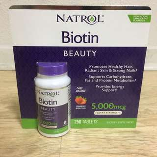 Biotin for young and healthy nail, skin, hair - US product