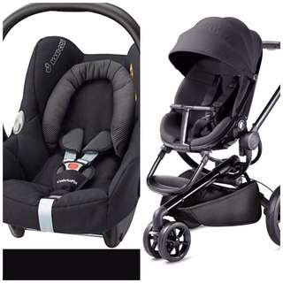 Quinny Moodd stroller and baby car seat