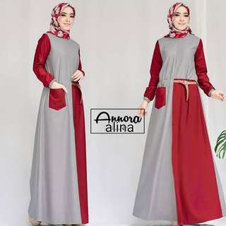 MF - 0118 - Dress Busana Muslim Alina Maxi