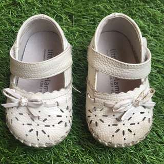 Little Blue Lamb Baby Girl White Shoes