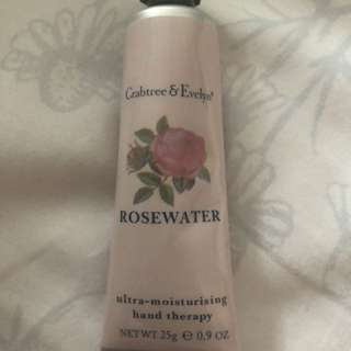 New Crabtree & Evelyn Hand Cream ROSEWATER
