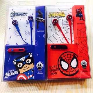 Avengers & Spiderman Earphones w/ Mic