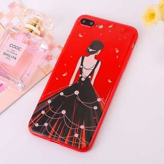 Princess Gown Red Case for Samsung, Vivo, Oppo, iPhone