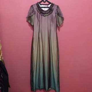 REPRICE!!! Long dress tritone
