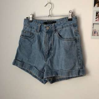 Vintage Look Denim Shorts