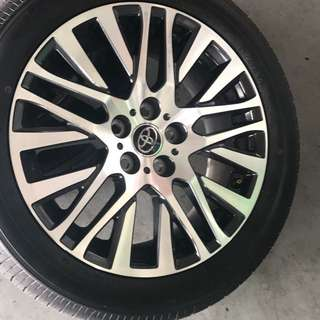 TOYOTA VELLFIRE original wheels