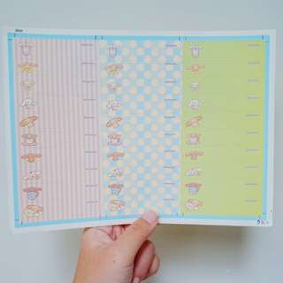 Sticker Label Nama Cinnamoroll