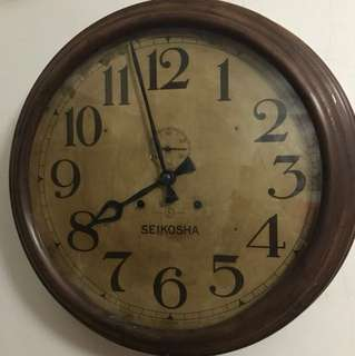Seikosha vintage clock( viewing only )