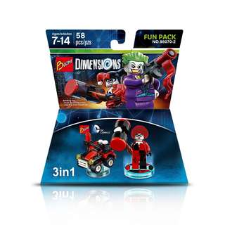 BOZHI 98070-2 Dimensions 3in1 Harley Quinn-Mobile