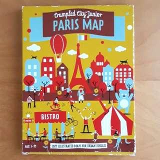 Crumpled City Junior Paris Map