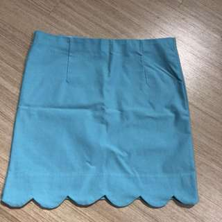 Baby blue mini skirt