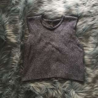 Cropped Vintage Knitted Singlet