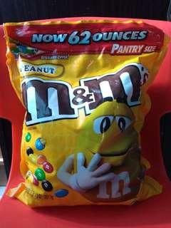 M&m's peanut 62oz/3lbs/1757.7g