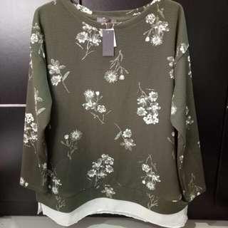 Freeongkir blouse St.Yves hits hijau army