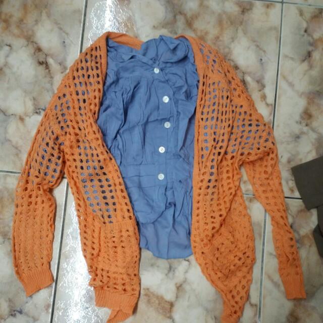 100商品買五送一  罩衫+上衣