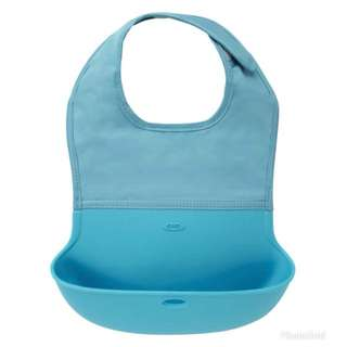 OXO Tot Silicone Roll Up Bib with Food Catcher