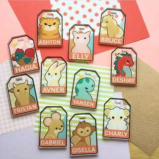 CUSTOM BAG TAG LUGGAGE TAG ACRYLIC TAG chinese animal zodiac