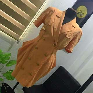 """Repriced!! """"Petiole"""" Balmain inspired double breasted blazer/ vest dress"""