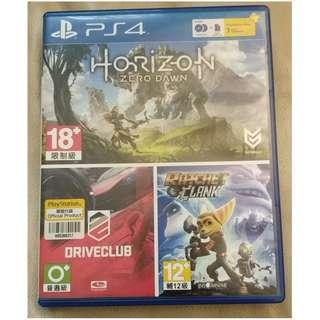 PS4 Horizon Zero Dawn 地平線 中文版 連 DriveClub