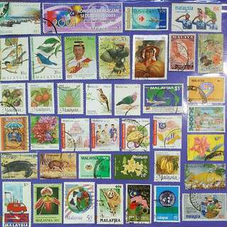 39 pcs Malaysia Different Used Stamps