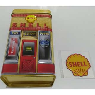 Shell 125 Years Anniversary Tin Box Container #15Off
