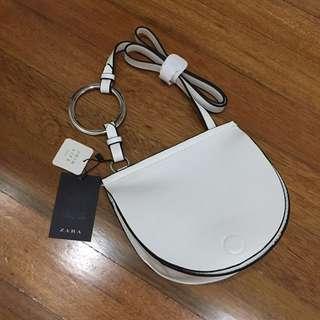 Zara White Crossbody Sling Bag