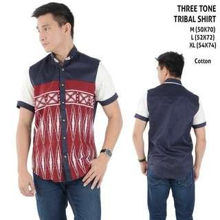Three tone tribal shirt