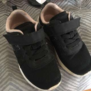 H&M black sneakers with sequins