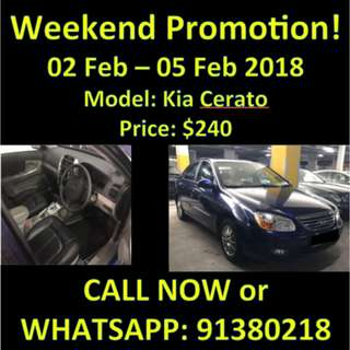 2nd to 5th Feb Kia Cerato