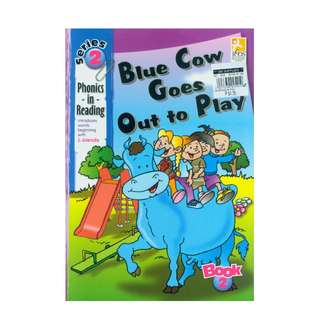 PHONICS in READING Series 2 Blue Cow Goes Out to Play Childrens Book