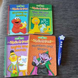 Sesame Street Let's Learn Together Quiz It Pen Book Box Set (Recommended Age: 3years+)