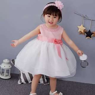 Kids toddler baby girl birthday party dress 123y