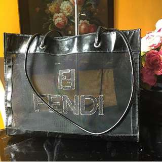Authentic FENDI Roma Transparent Tote With Long Handle