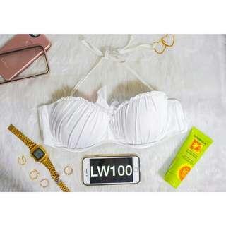 White Top Bikini Size Large