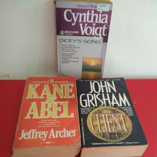 "[WTT/WTS] All 3 Books Dicey's Song (GEP Reading Material),  Famous John Grisham ""The Client"" And Jeffrey Archer ""Kane & Abel"" for Orson Scott Card's ""Enders Game"". In Old Yellowish Condition.  Not For Fussy But For Bk Collectors.See For Bk All Pics."