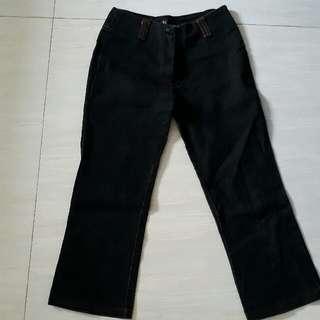 celana jeans hitam 7/8