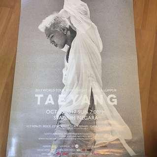 Taeyang White Night Kuala Lumpur Concert poster