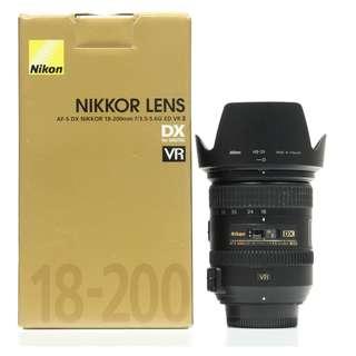 Nikon AF-S 18-200mm f3.5-5.6G ED VR II Lens