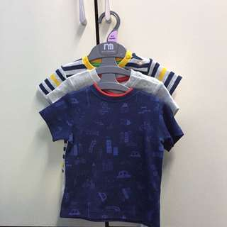 Mothercare Set Of 3 Baby Boy Shirt